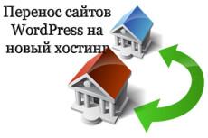 Перенос WordPress сайта на другой хостинг, домен 23 - kwork.ru