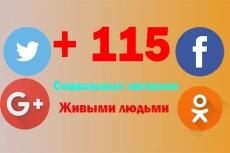 250+ соц. сигналов с вашего сайта живыми людьми 17 - kwork.ru