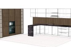Проект корпусной мебели, кухни. Визуализация мебели 16 - kwork.ru