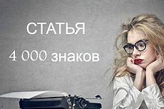 Статья 4000 знаков, тема АВТО 20 - kwork.ru
