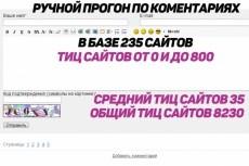 Ручной прогон по гостевым сайтам (сайты с тиц от 10 до 2400), в базе 165 сайтов 9 - kwork.ru