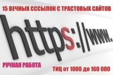 17 вечных ссылок с трастовых сайтов. Высокий тиц показатель 12 - kwork.ru
