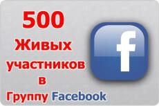500 участников в вашу группу Facebook 16 - kwork.ru