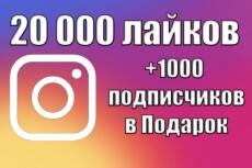 10000 подписчиков в Инстаграм + 5 000 лайков 3 - kwork.ru