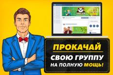 Оформлю группу в ВК под ключ 19 - kwork.ru