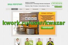 Готовый сайт Ремонт окон 13 - kwork.ru