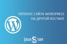 Перенесу Wordpress сайт на другой хостинг или на новый домен 7 - kwork.ru
