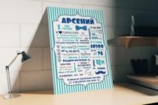 Дизайн плаката 20 - kwork.ru