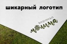 Два варианта Логотипа + Визуализация + Ч/б 10 - kwork.ru