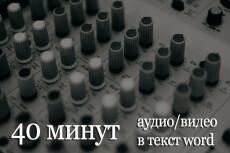 Сделаю Транскрибацию текста. Из аудио в Word. Из видео в текст. 60 мин 11 - kwork.ru