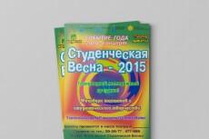 Красивый дизайн флаера, листовки 9 - kwork.ru