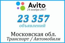 Создам базу объявлений с сайта avito.RU 18 - kwork.ru