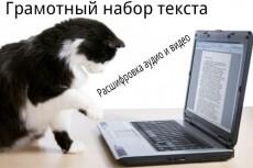 Транскрибация. Грамотный набор текста 18 - kwork.ru
