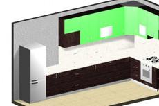 3D - визуализация кухонного гарнитура 50 - kwork.ru