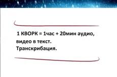 Транскрибация, перевод аудио или видео в текст 19 - kwork.ru