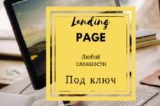Сделаю Landing page под ключ 70 - kwork.ru