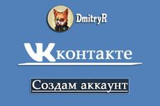Зарегистрирую аккаунт ВК 7 - kwork.ru