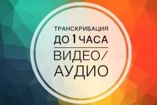 Транскрибация, перевод из аудио в текст,перевод из видео в текст 21 - kwork.ru