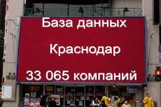 База данных компаний Волгограда 21478 контактов 37 - kwork.ru