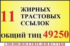 Зарубежные ссылки 10 PR 7 -9  Ручное размещение 9 - kwork.ru