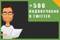 1000 подписчиков в Twitter. Безопасно. Офферы 6 - kwork.ru