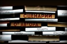Напишу синопсис 36 - kwork.ru