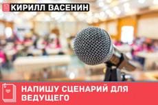 Сценарий для ведущего на мероприятие, городское гуляние, свадьбу 23 - kwork.ru