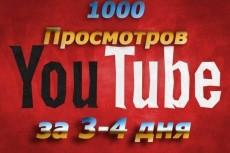 1000 Youtube просмотров с бонусами 10 - kwork.ru
