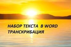 Напечатаю текст в Word 14 - kwork.ru