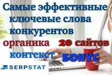 Ключевые слова конкурентов 11 - kwork.ru