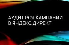 Грамотный аудит Рекламной компании Янлекс. Директ и РСЯ 9 - kwork.ru