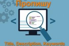 Оптимизация мета данных Title, Descriptions, Meta Keywords 16 - kwork.ru