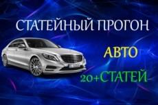 Эффективный статейный прогон по 160 сайтам + Бонус 18 - kwork.ru