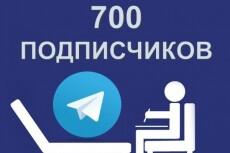 200 живых подписчиков на канал Telegram 11 - kwork.ru