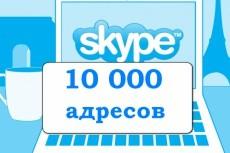 База 30000 скайпов интернет предпринимателей 8 - kwork.ru