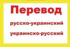 Качественно переведу с украинского на русский/с русского на украинский 17 - kwork.ru