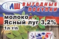 Оригинальный макет плаката 6 - kwork.ru