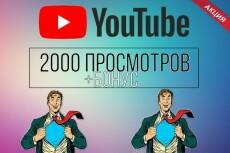 2000 просмотров видео с удержанием на YouTube 14 - kwork.ru