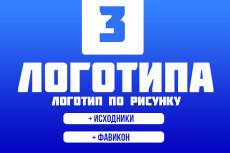 Логотип в векторе по вашему эскизу 34 - kwork.ru