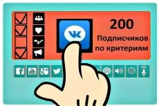 200 участников по критериям в группу Вконтакте 23 - kwork.ru