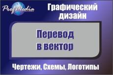 Переведу в вектор ваши чертежи, схемы, несложные изображения 81 - kwork.ru