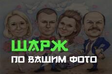 Шарж по фотографии 16 - kwork.ru