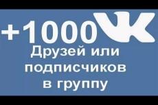 Вконтакте Друзья. Подписчики на аккаунт, профиль 500 человек 10 - kwork.ru
