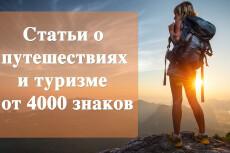 Статьи та тему отдыха, развлечений, туризма и путешествий 8 - kwork.ru