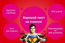 Напишу текст на главную страницу вашего сайта 9 - kwork.ru