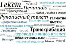 Перевод видео/аудио в текст, набор текста, формулы, таблицы 3 - kwork.ru