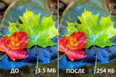 Уменьшу вес картинок без потери качества 19 - kwork.ru