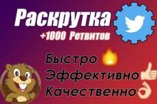 1000 ретвитов в Твиттер 13 - kwork.ru