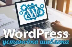 Установка шаблона WordPress 13 - kwork.ru