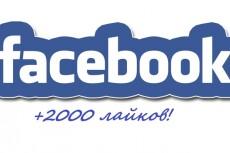 2000 лайков на пост или фото в Фейсбук - живыми людьми + Бонус 13 - kwork.ru